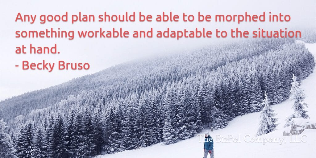 Becky Bruso Adaptable Plans Quote